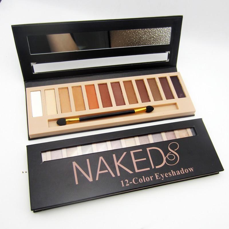 Caixa 12 Paletas Maquiagem Sombras Matte Nude Pincel